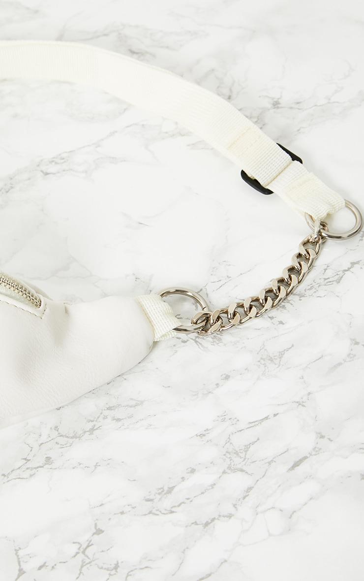 White Chunky Chain Bum Bag 5