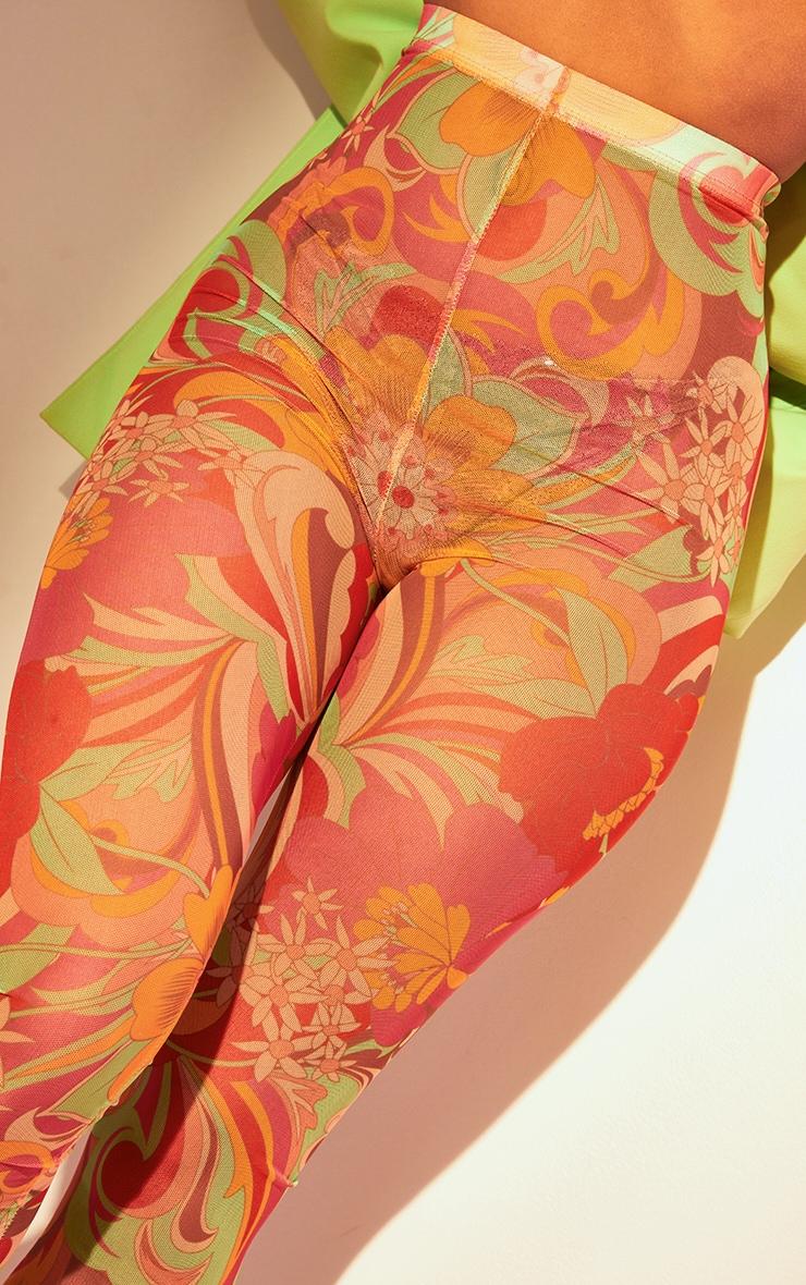 Multi Swirl Print Mesh Leggings 5