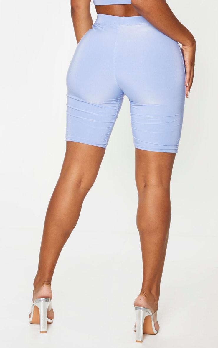 Shape Dusty Blue Slinky Seam Detail Cycling Shorts 3