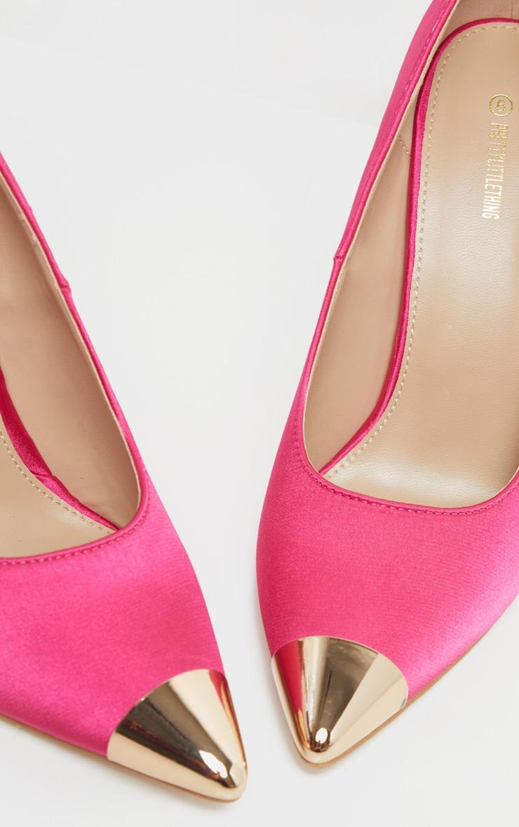 Pink Metal Toe Court Shoe 4