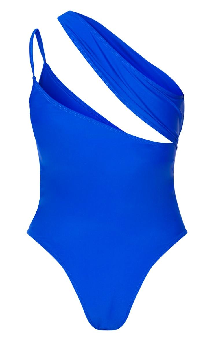 Cobalt Asymmetric Double Strap Swimsuit 4