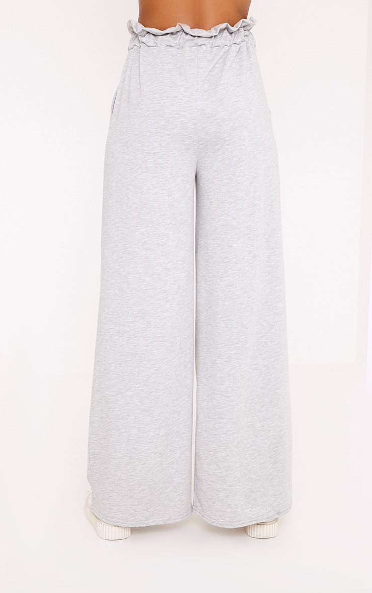 Jessey Grey Paperbag Wide Leg Trousers 4