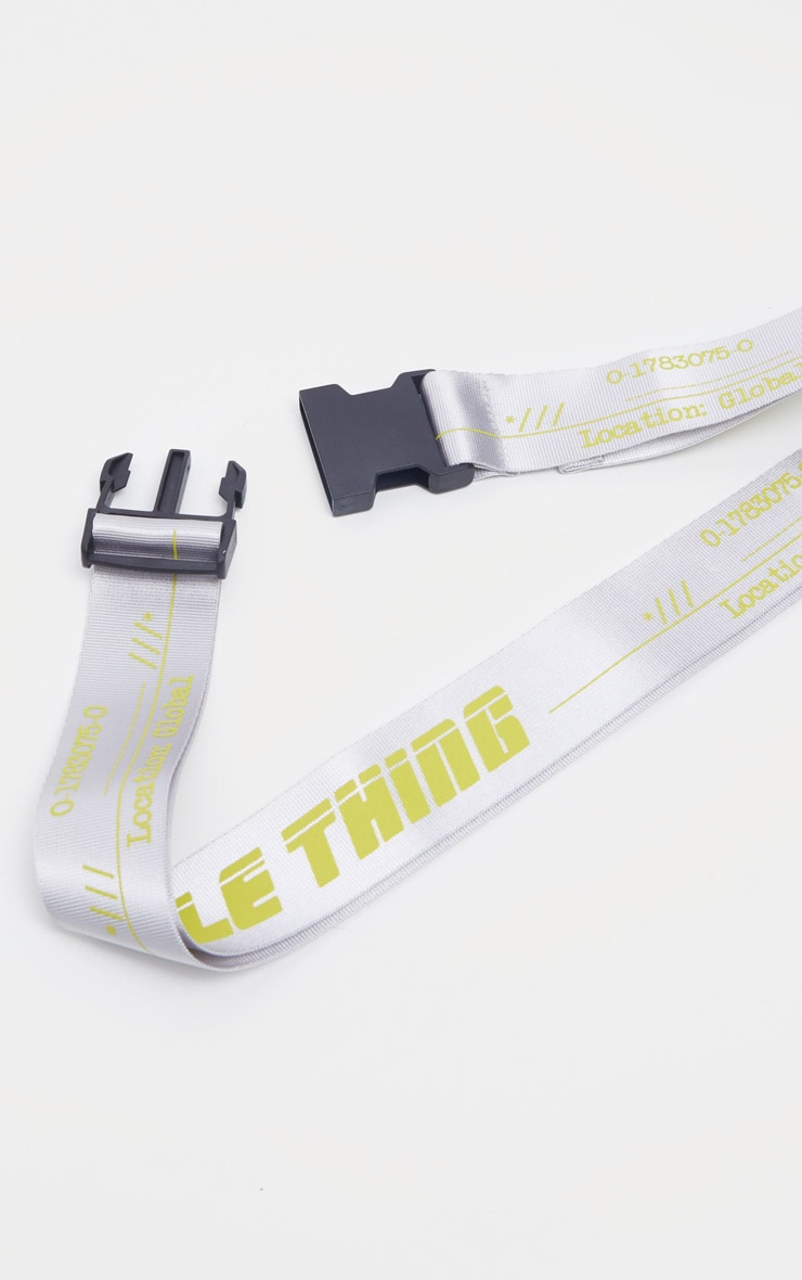 PRETTYLITTLETHING Neon Lime Taping Belt 2