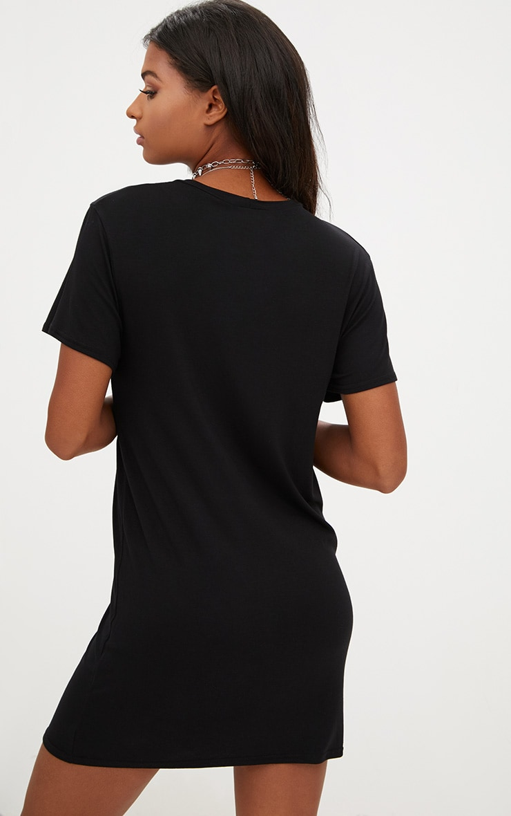 Black Astronaut T Shirt Dress 2