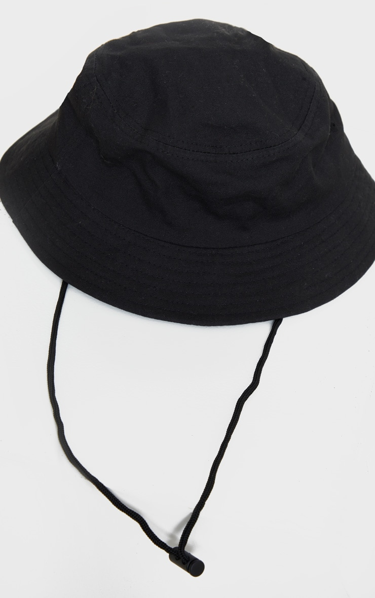 Black Toggle Bucket Hat 2