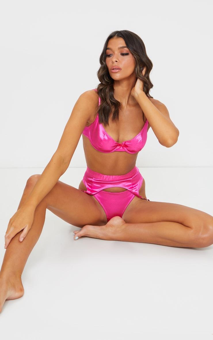 Hot Pink Satin Thong 4