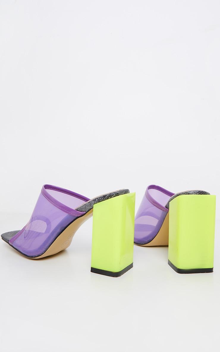 Lime Chunky Block Heel Mule 3