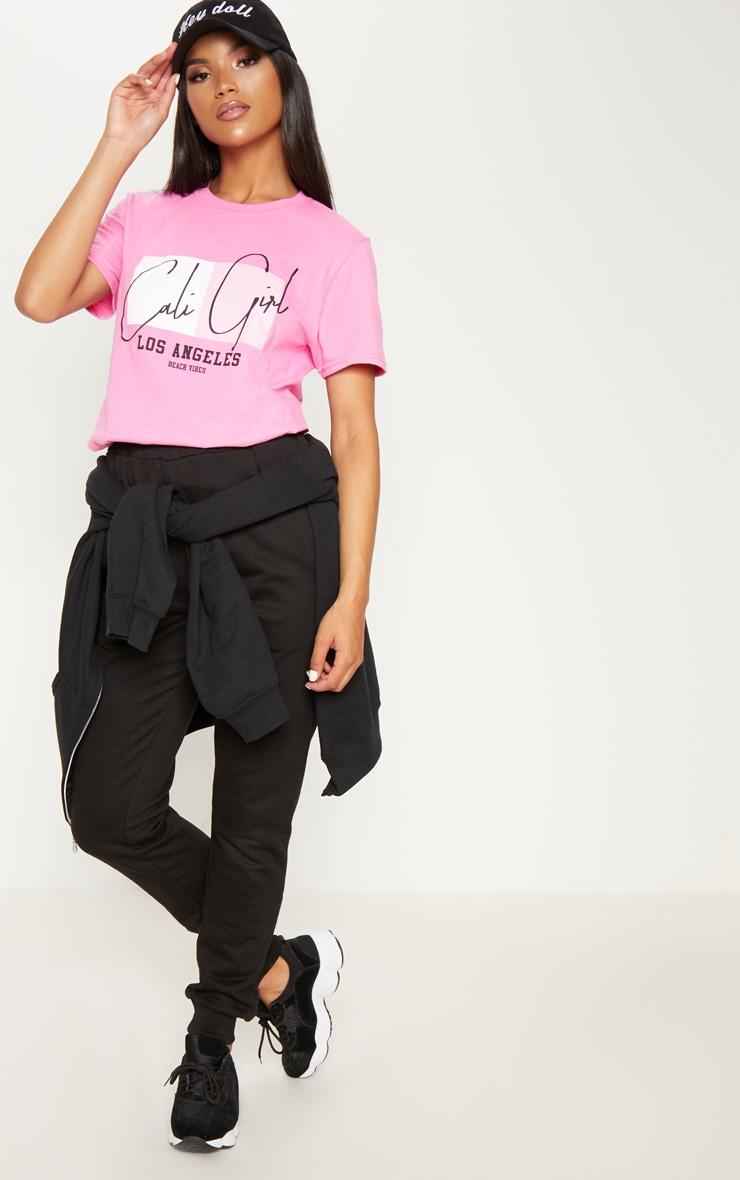 Pink Cali Girl Slogan Oversized T Shirt 4