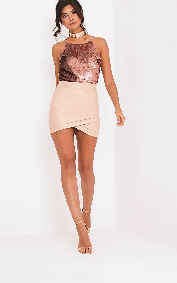Lore Bronze Sequin Thong Bodysuit 6