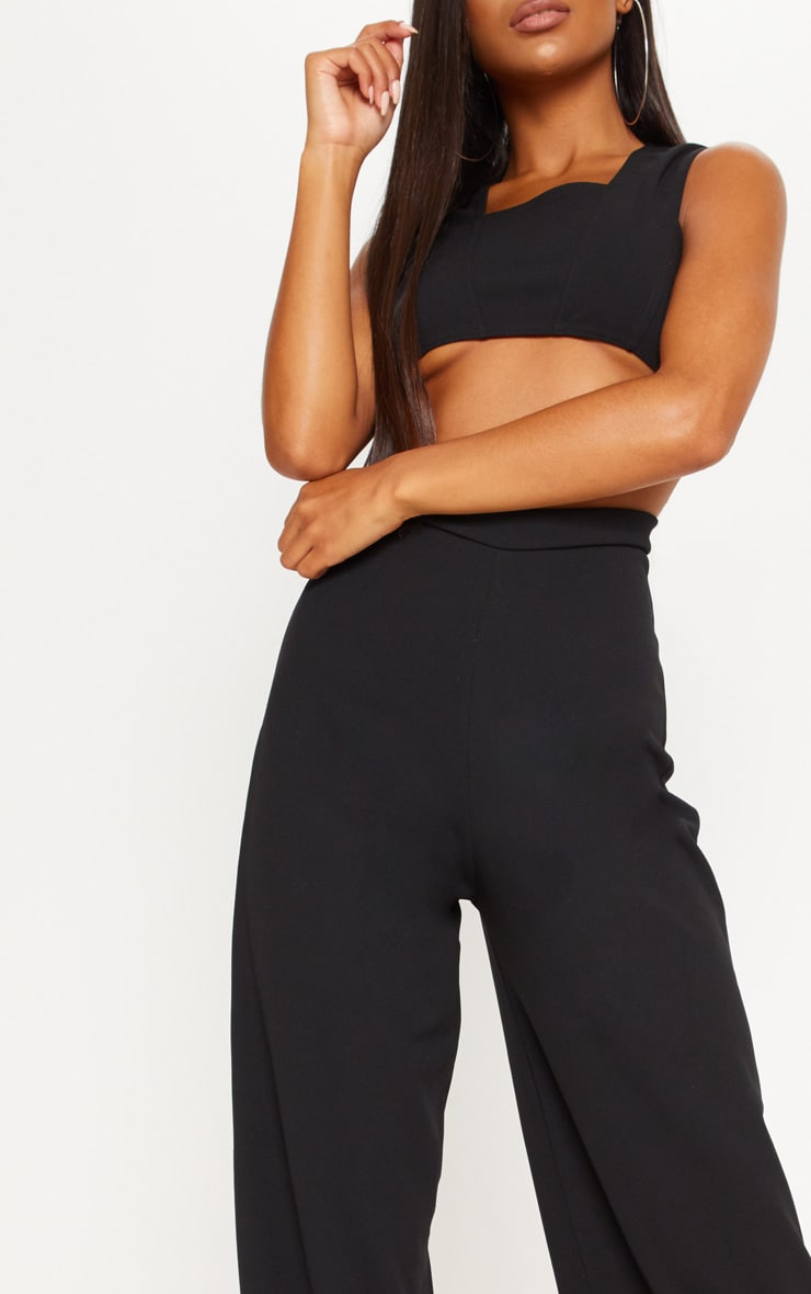 Black Crepe Cut Out Jumpsuit 6