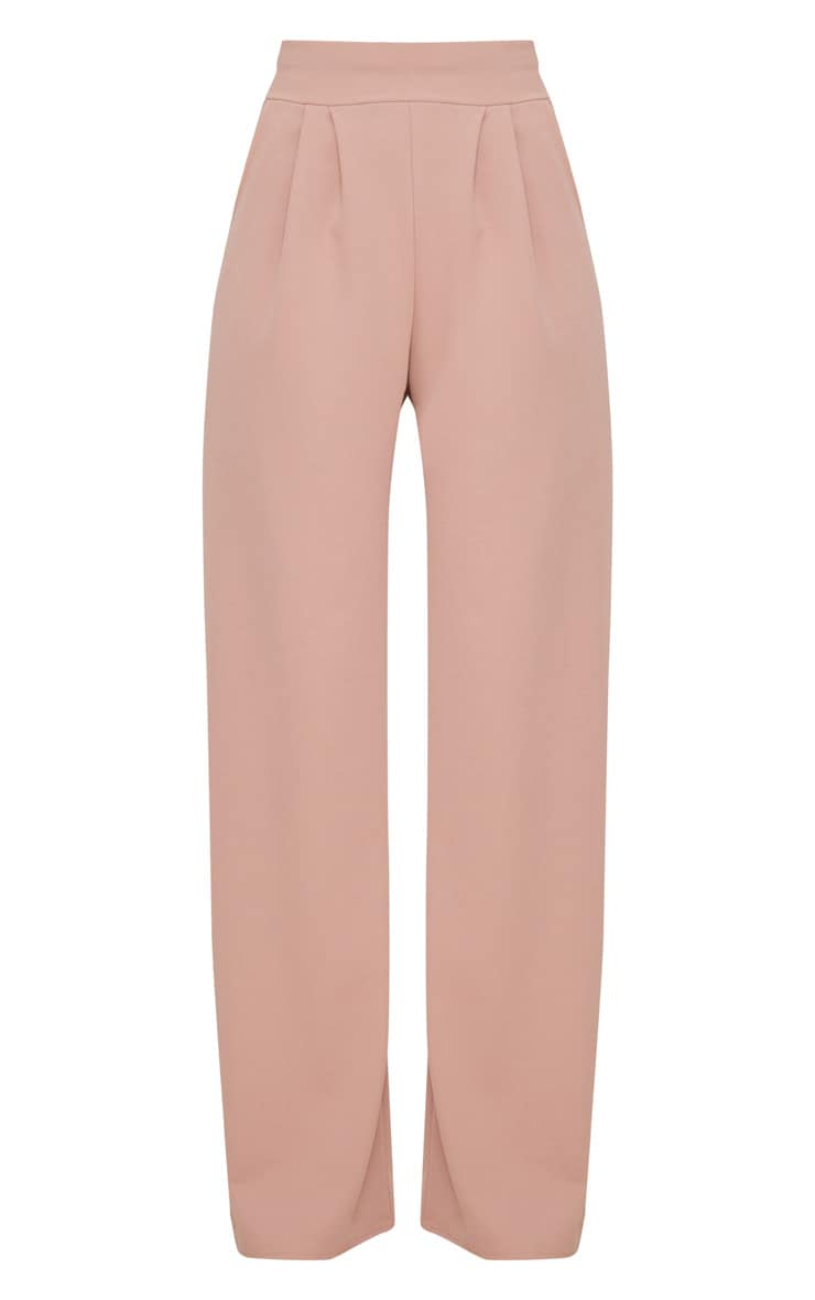 Dusty Pink Pleated Front Wide Leg Pants 3