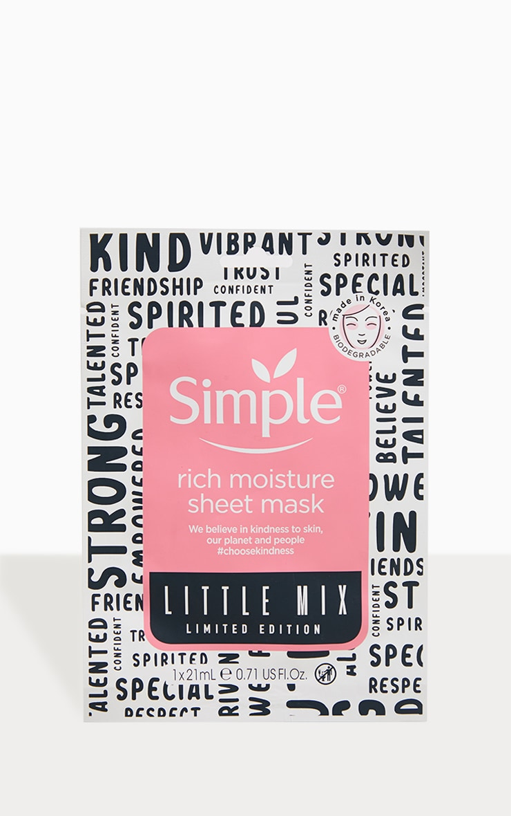 Simple X Little Mix Rich Moisture Sheet Mask 1