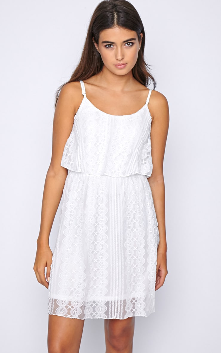 Stacey White Lace Swing Dress  4