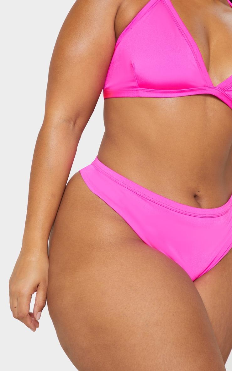 Plus Neon Pink Bikini Bottom 6
