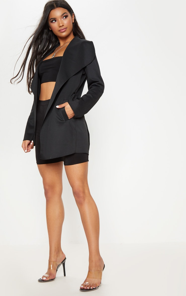 Lyla Black Scuba Waterfall Jacket 4