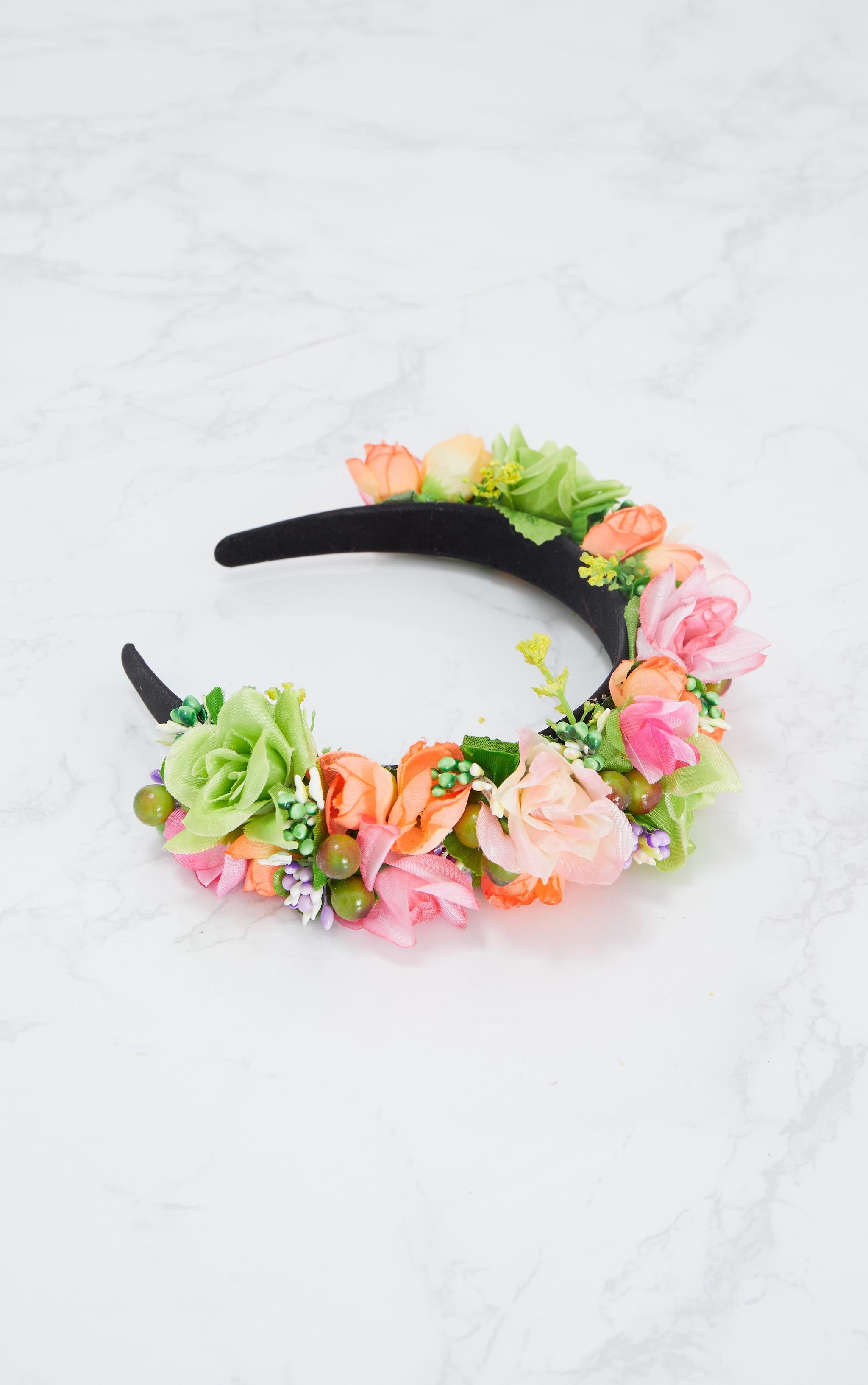 Summer Floral Statement Headband 3