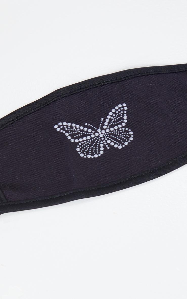 Black Butterfly Face Mask 3
