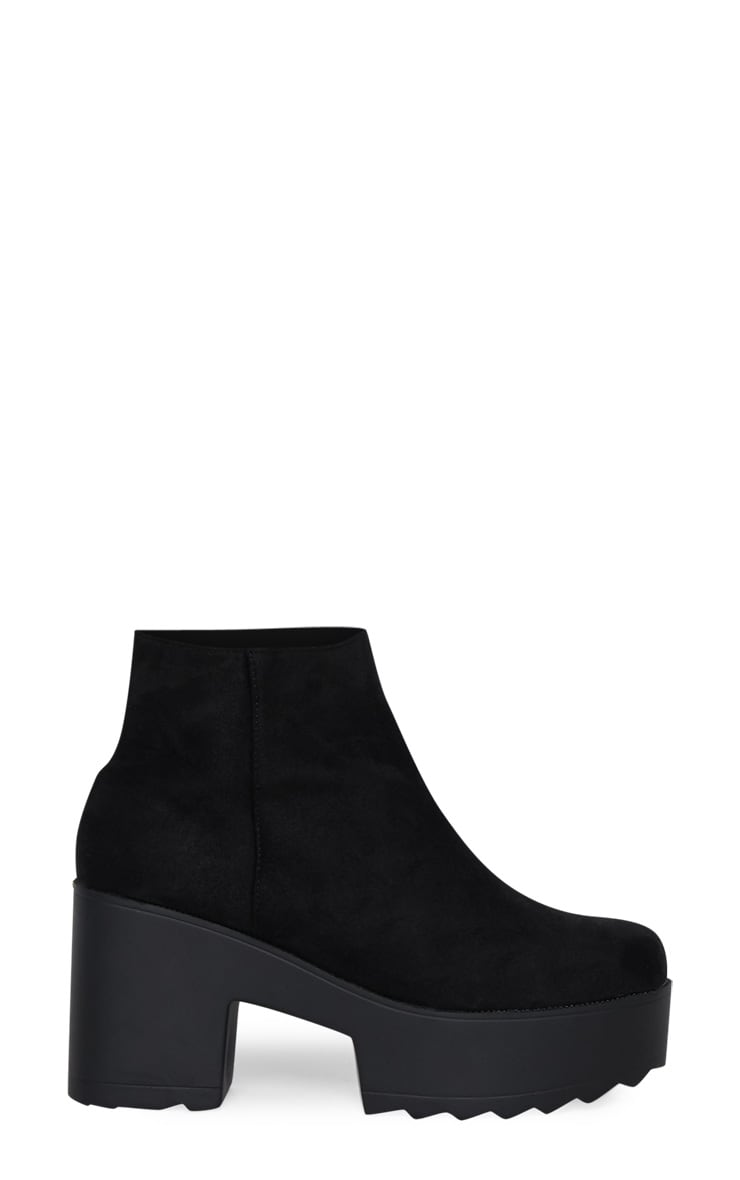 Black Chunky Platform Ankle Boot 3