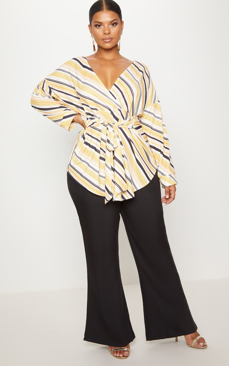 Plus Nude Printed Tie Waist Blouse  4