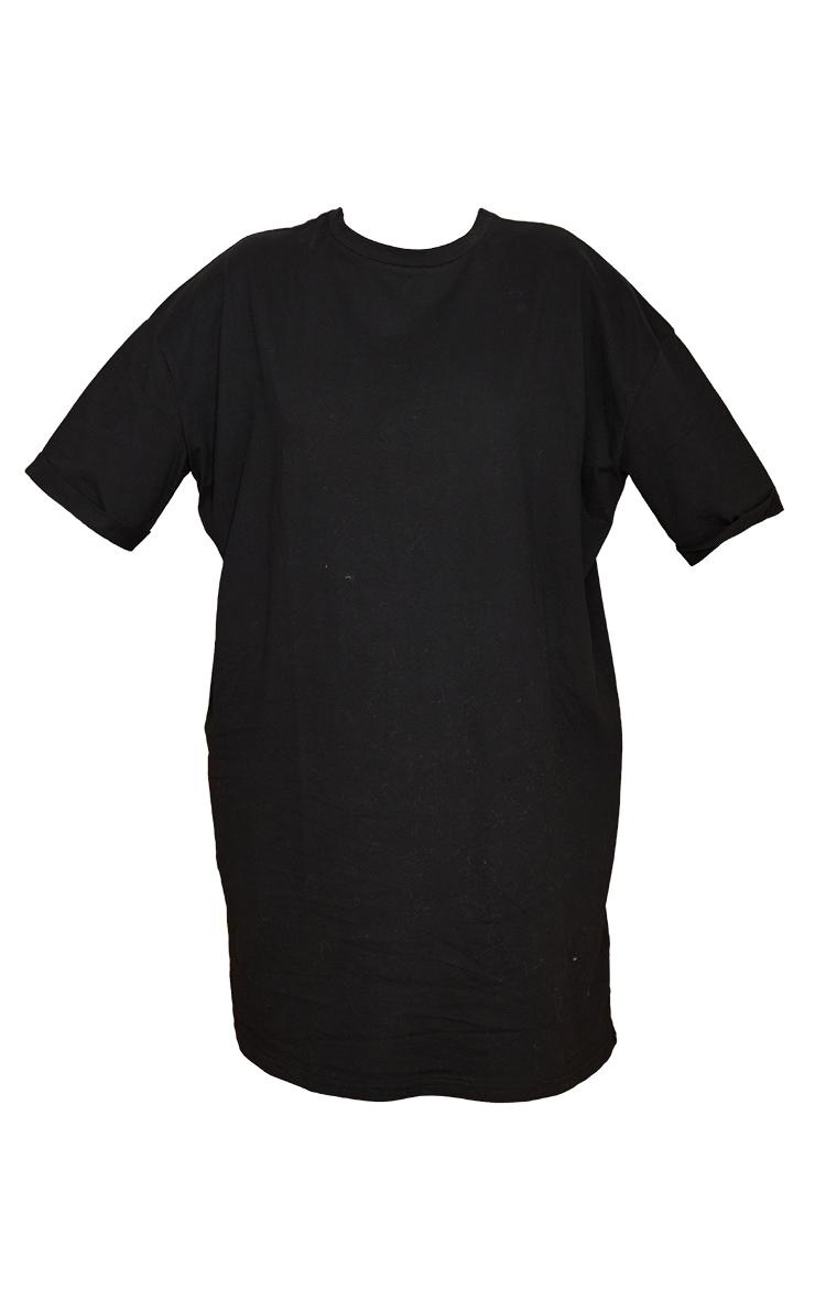 Tall Black Oversized Organic Tshirt Dress  5