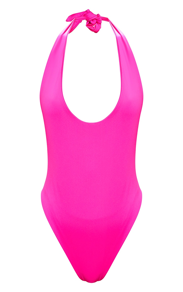Pink Plunge High Rise Swimsuit 3
