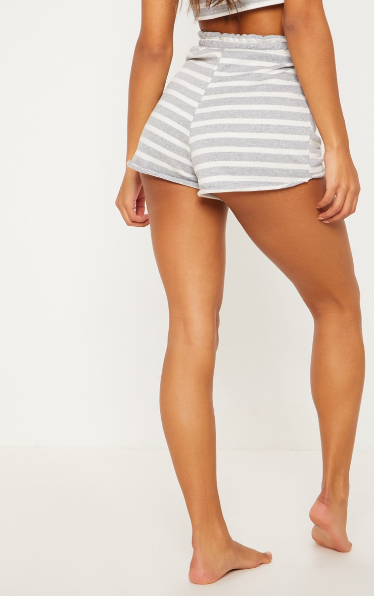 Grey Striped Jersey Short 4