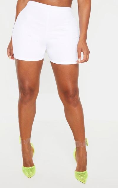 Shape White High Waist Hot Pants