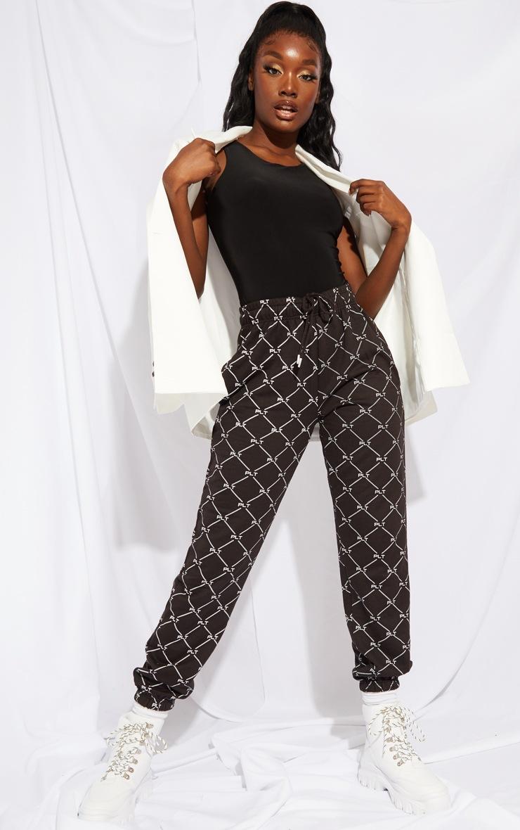 Tall Black Sleeveless Slinky Bodysuit 3