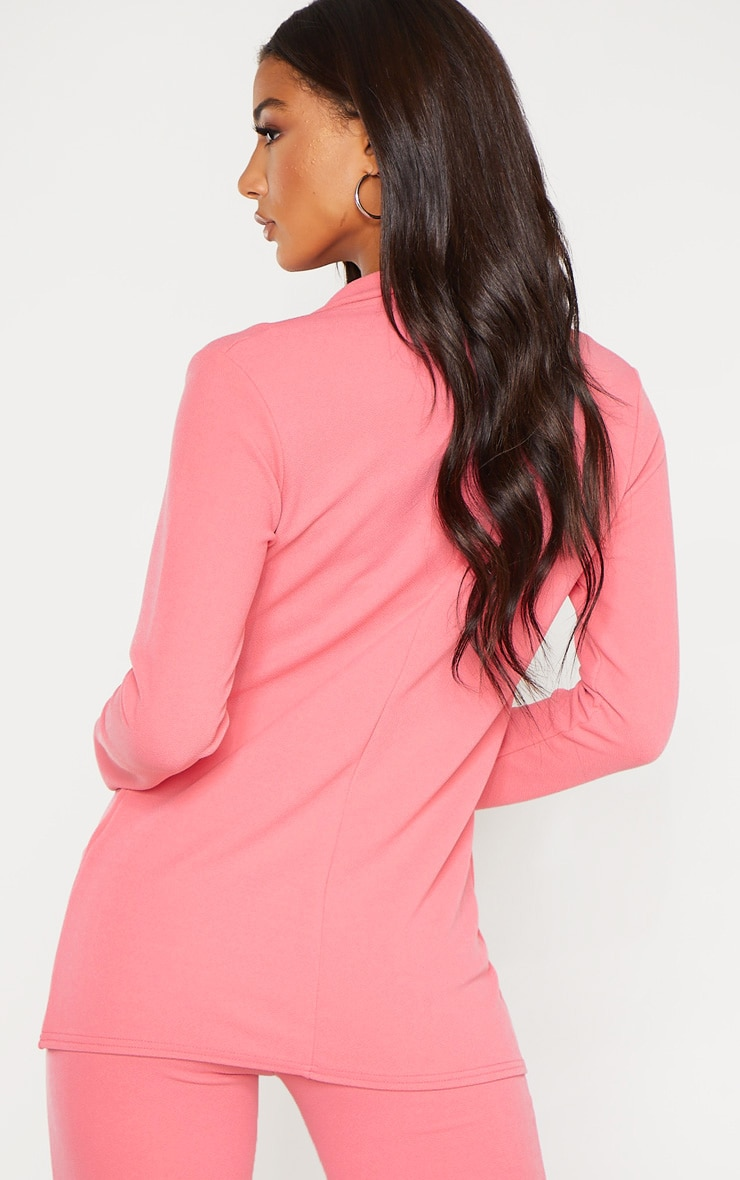 Coral Double Breasted Blazer  2