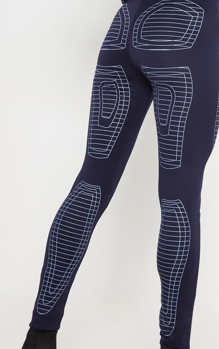Navy Digital Printed Scuba Legging 5