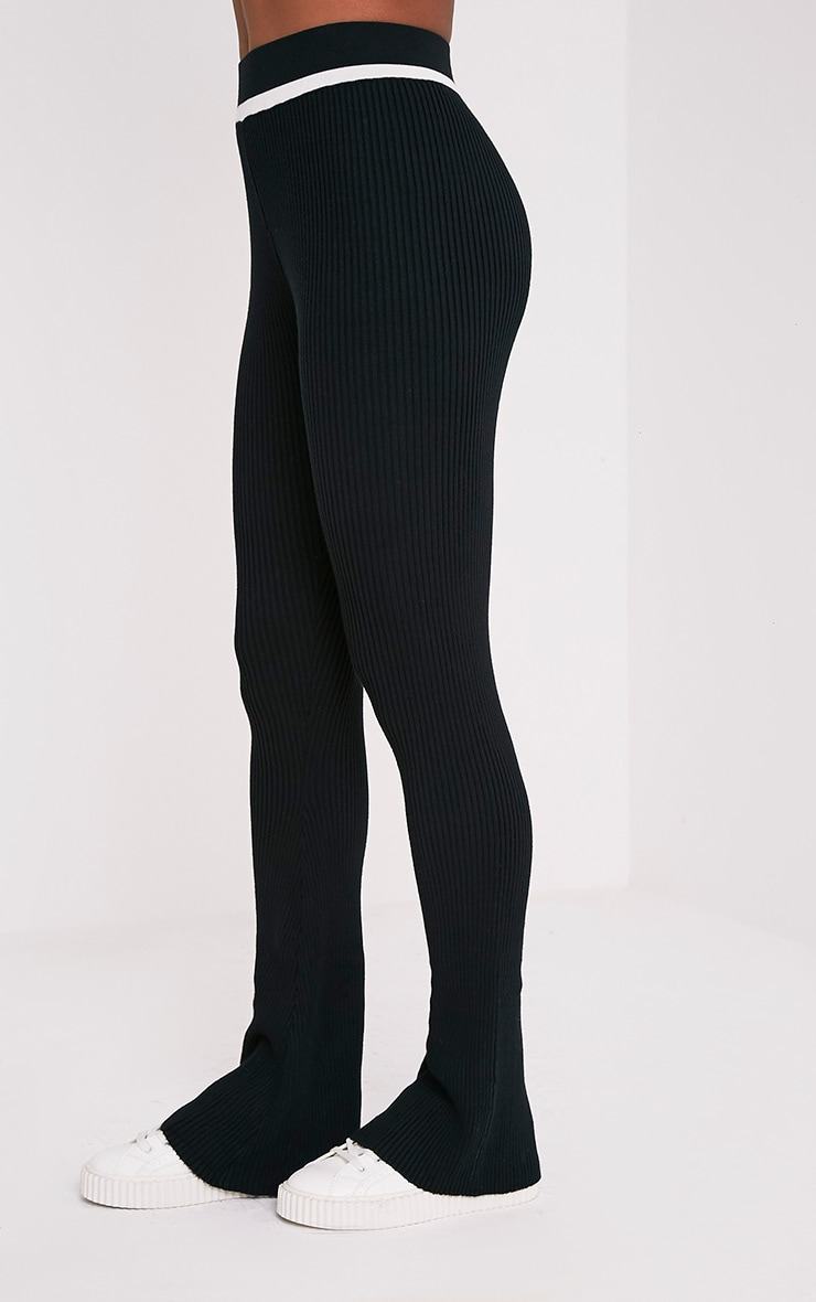 Sufiya Mono Colour Block Knit Ribbed Trousers 4