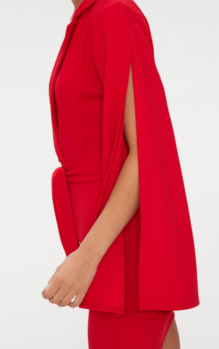 Red Split Sleeve Blazer Dress  5