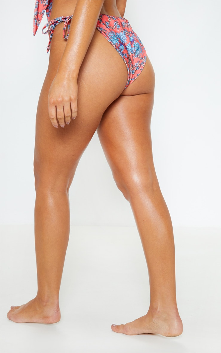 Floral Print Adjustable Bikini Bottom 4