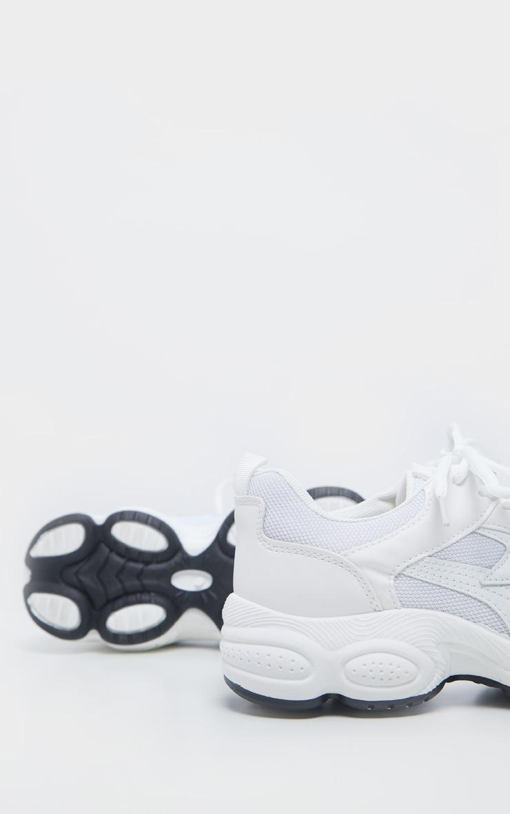 White Basic Chunky Sneakers 4