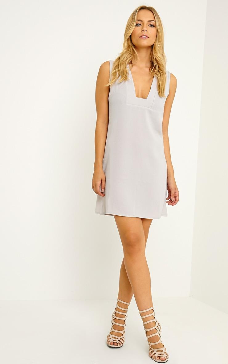 Jadako Grey Sleeveless Loose Fit Square Neck Dress 3