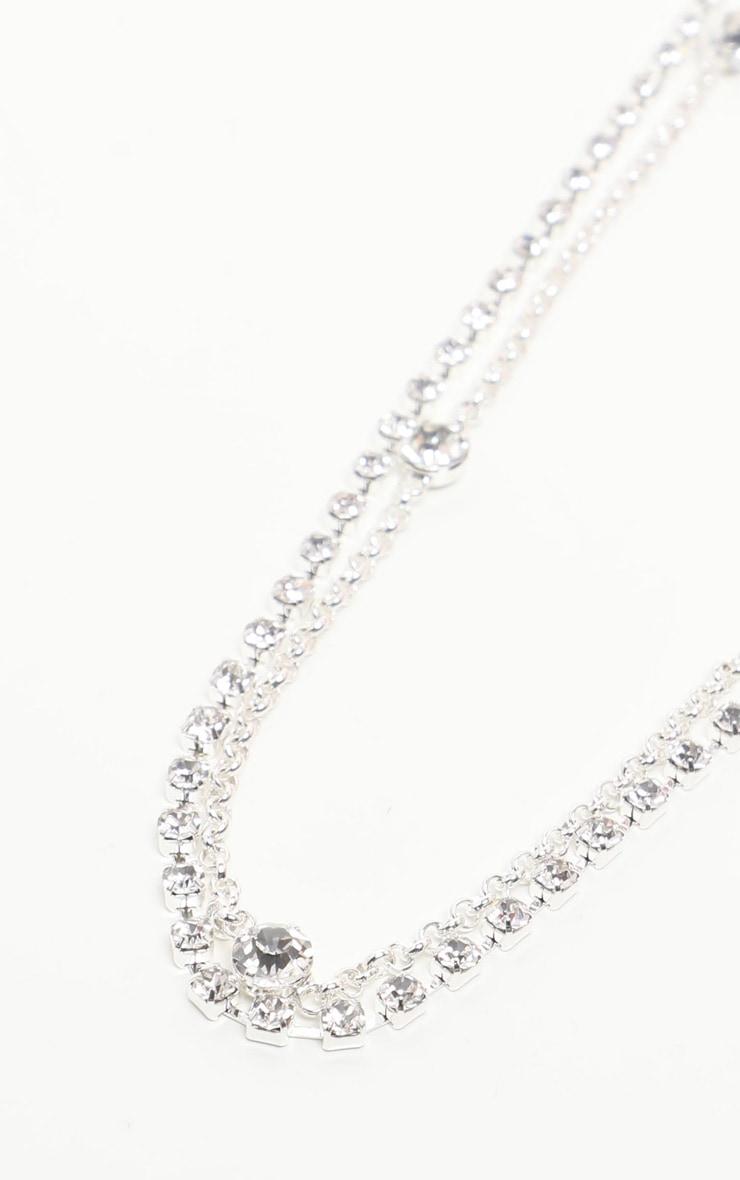 Silver Long Diamante Belly Chain 3