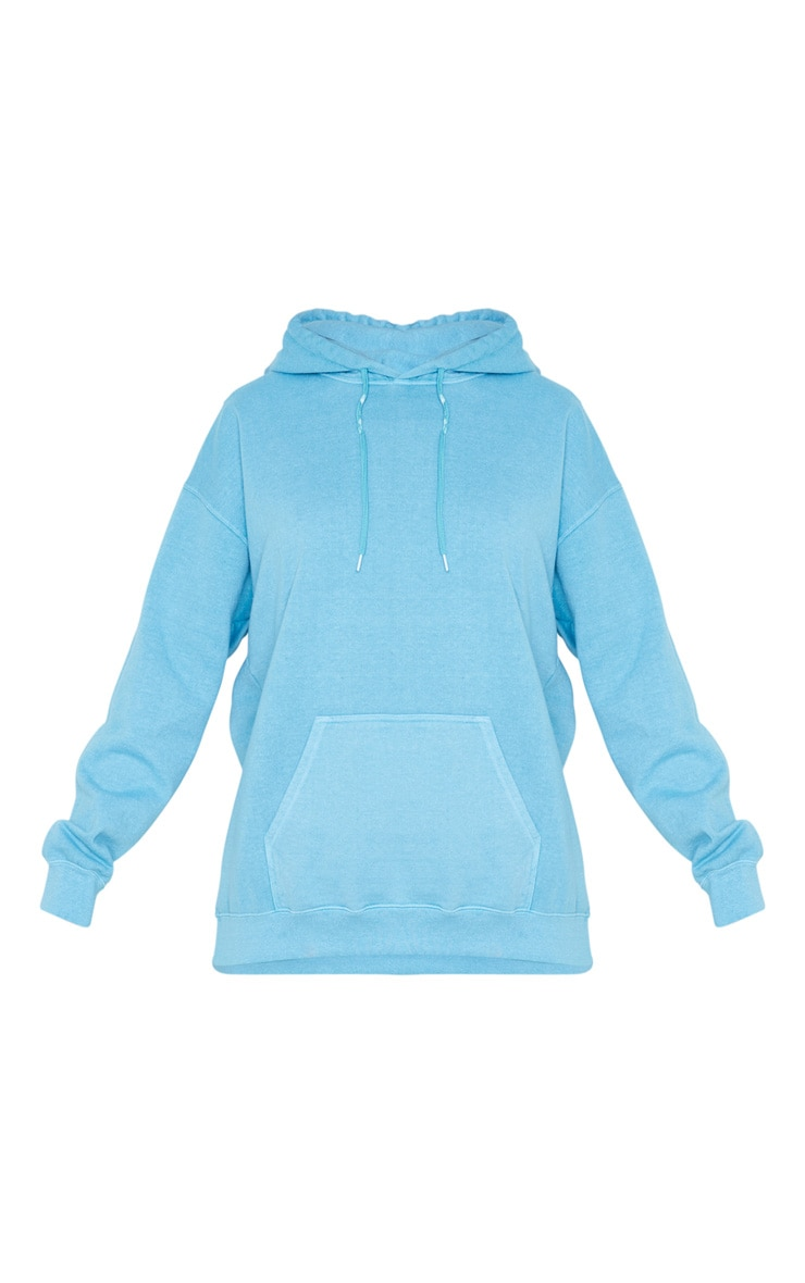 Dusty Turquoise Washed Oversized Hoodie 5