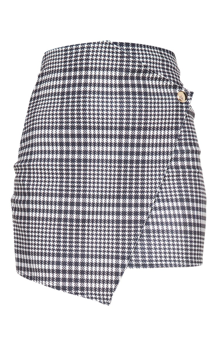 Monochrome Check Wrap Mini Skirt 1