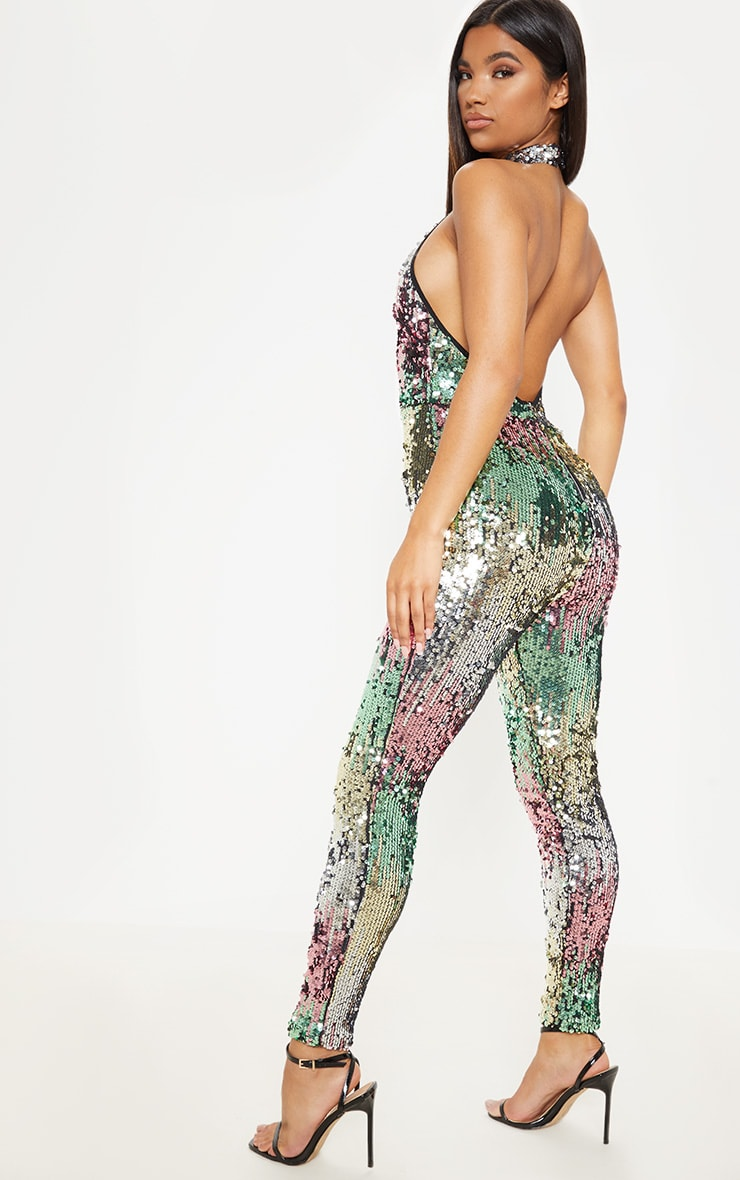 Sequin Open Back Jumpsuit 2