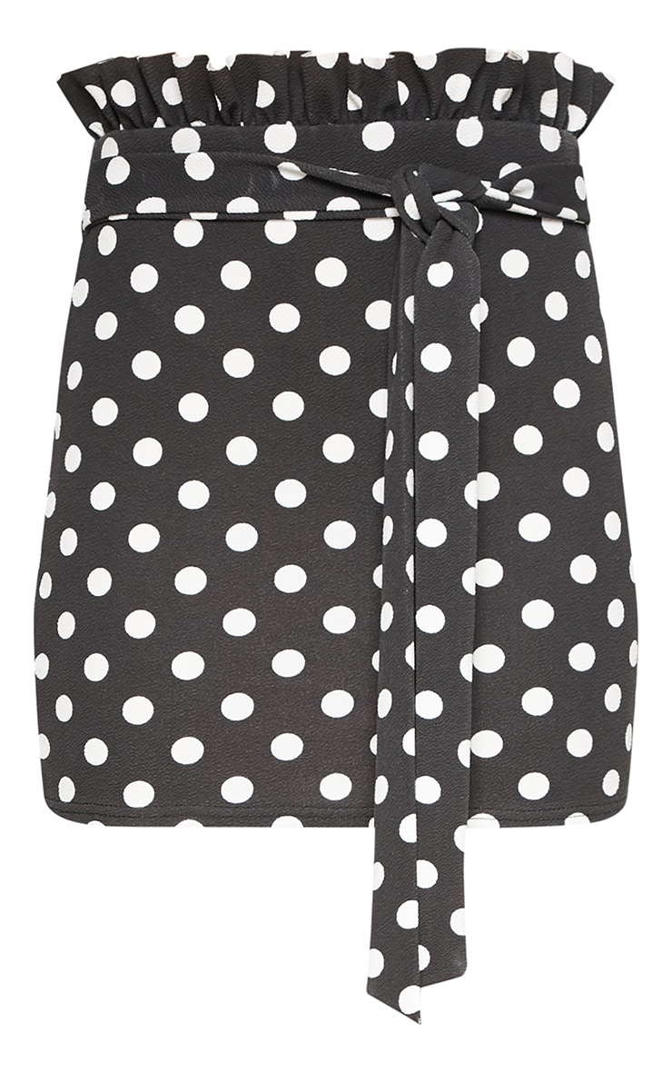 Black Paperbag Mini Skirt 3