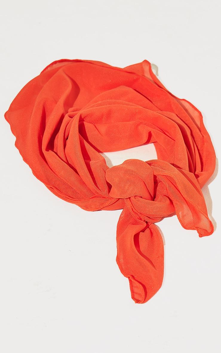 Orange Mesh Bandana 3