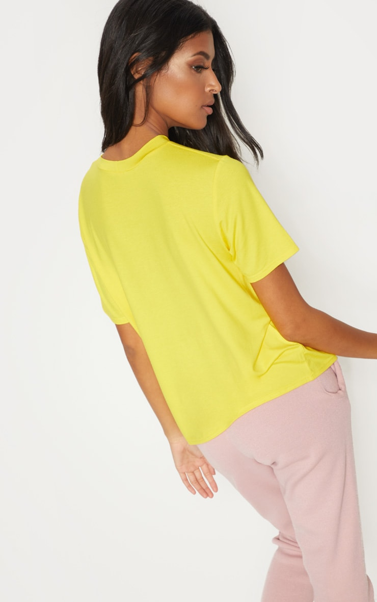 Yellow Romantic Embroidered Slogan Oversized T Shirt Pretty Little Thing Discount Eastbay AHZVldvGG