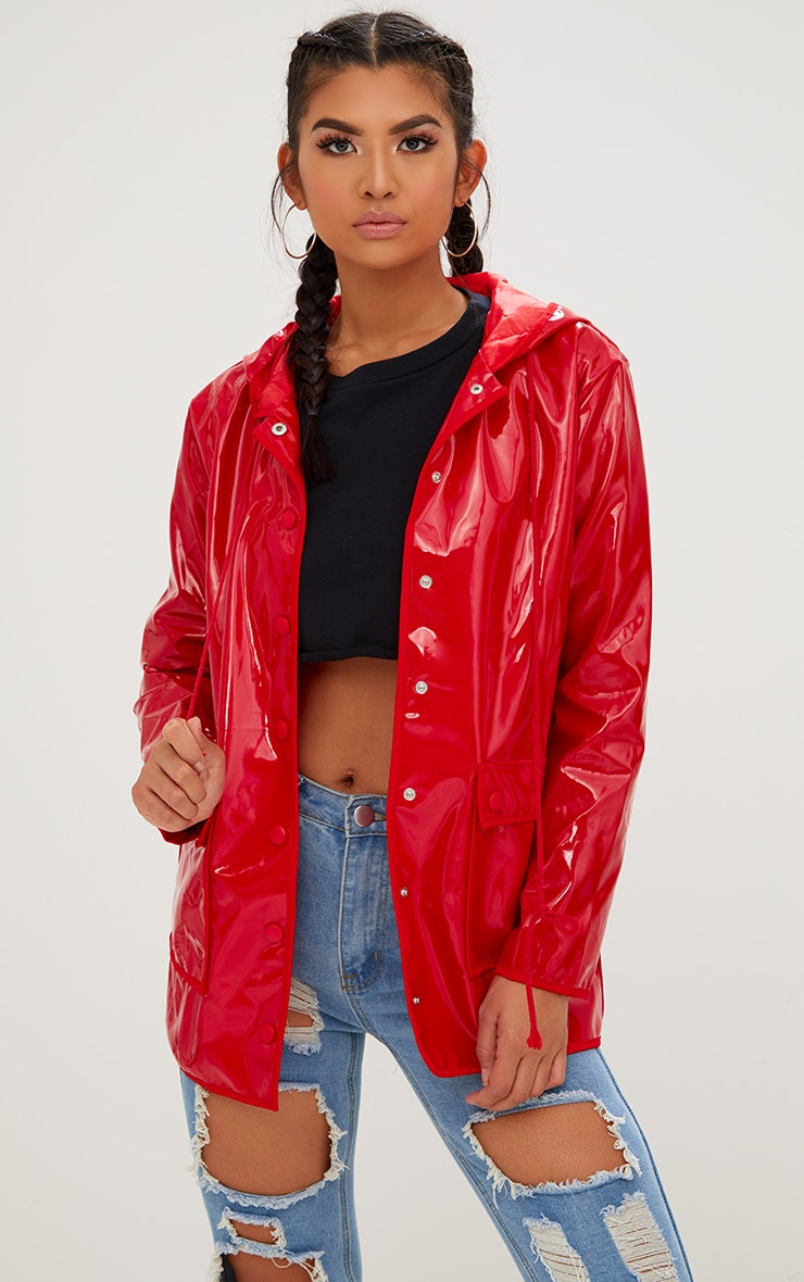 durable service select for genuine on sale online Red Vinyl Rain Mac