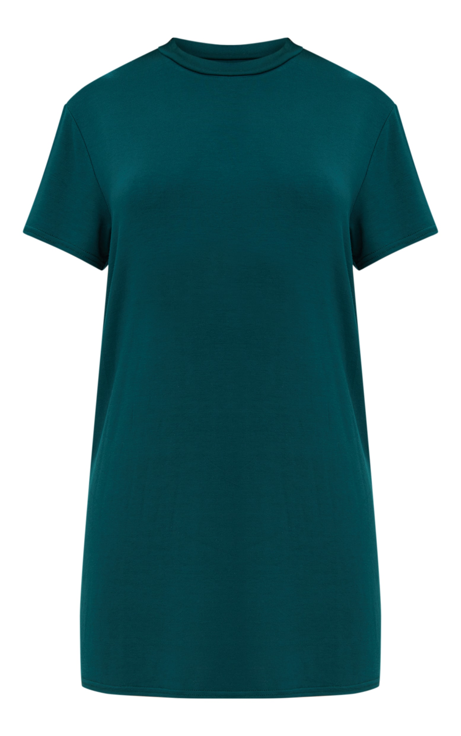Basic Forest Green  Short Sleeve T-Shirt Dress 3