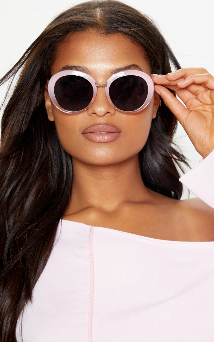 Pink Oversized Oval Sunglasses 1
