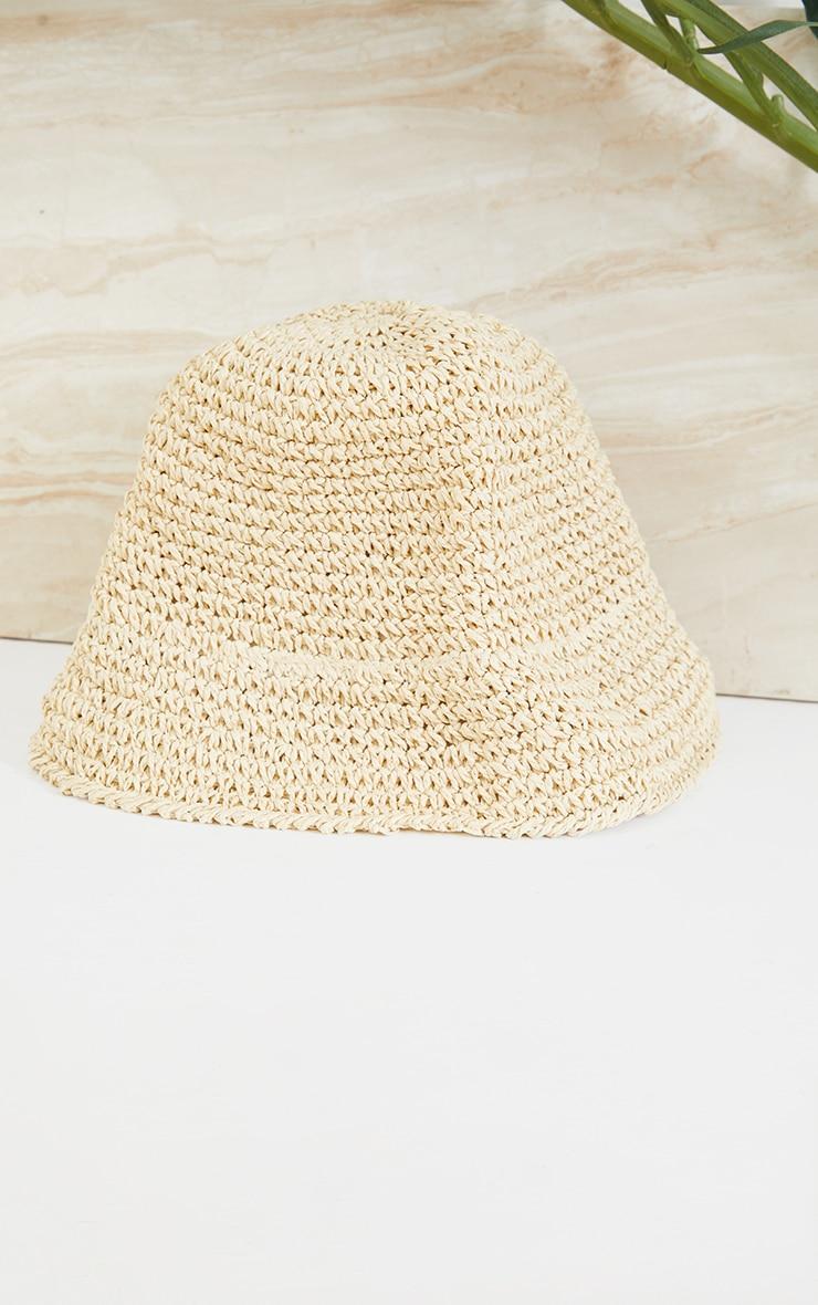 Cream Crochet Bucket Hat 2