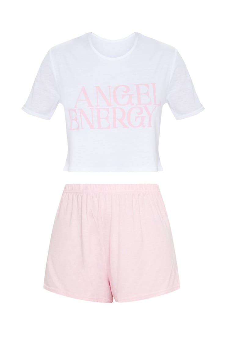Baby Pink Angel Energy Short PJ Set 5