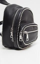 Black Ball Chain Border Mini Rucksack 3