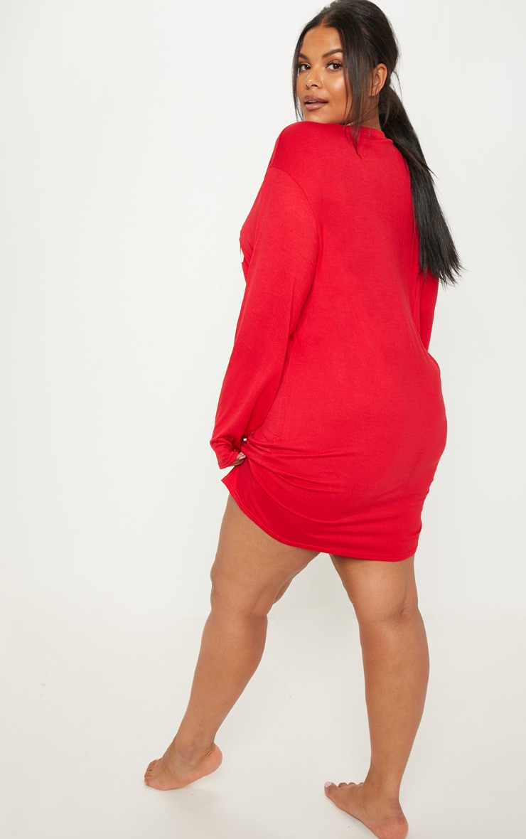 Plus Red 'Sleigh All Day' Nightie 2