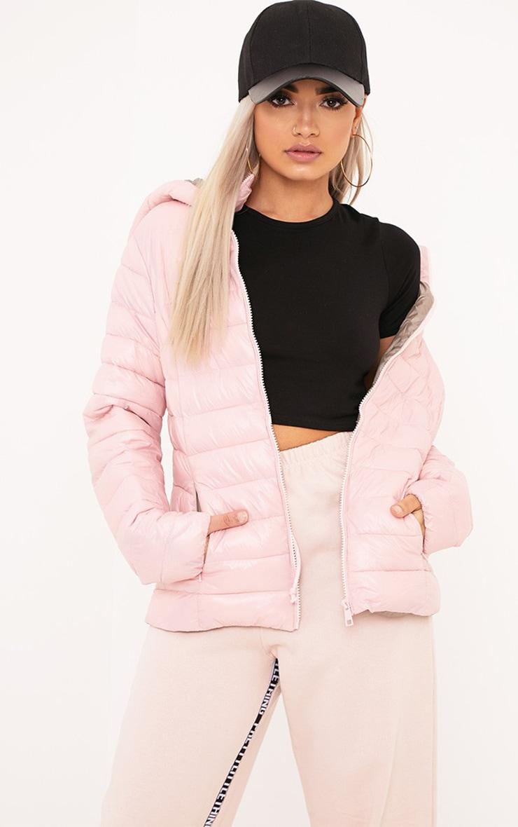 Abeliae Pink Puffer Coat  1